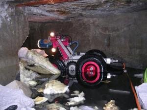 Rijdende camera riool inspectie